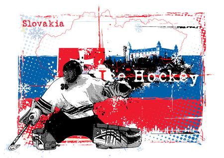 ice hockey championship slovakia 2011 Vector