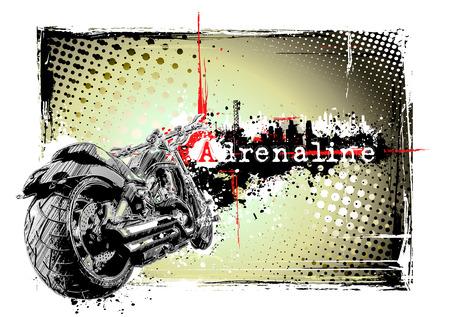 chopper: motorbike frame