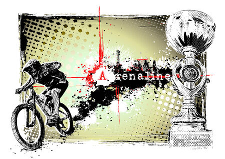 adrenaline: bike frame Illustration