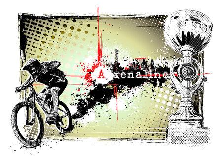 adrenalin: bike frame Illustration