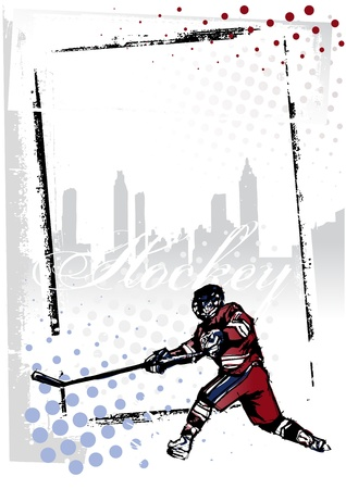 hockey game: ice hockey poster Illustration