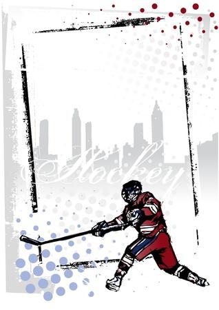 hockey ice: ice hockey poster Illustration