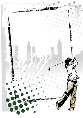 golf frame Illustration