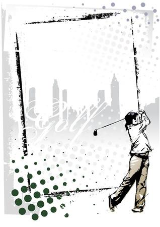 golf frame Vector