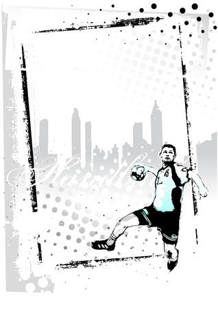 handball frame Illusztráció