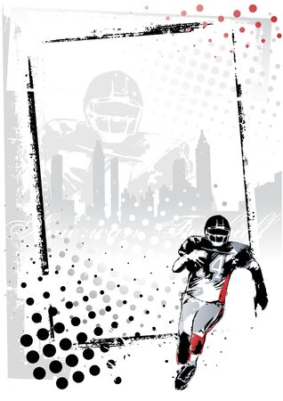 football players: american football poster