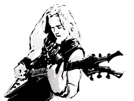 rock guitarist: guitarist Illustration