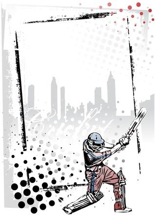 cricket sport: cricket frame 1 Illustration