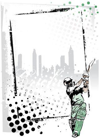 cricketer: cricket frame 2 Illustration