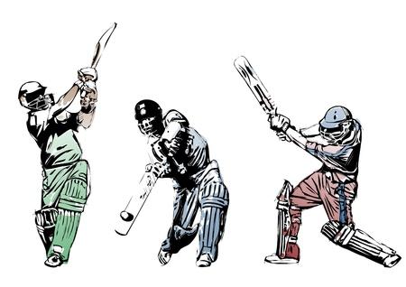 cricket: trio di cricket Vettoriali