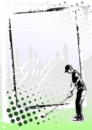 golf frame 2 Vector