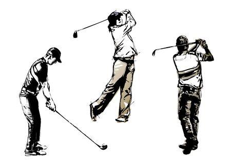 trio: golf trio 2 Illustration