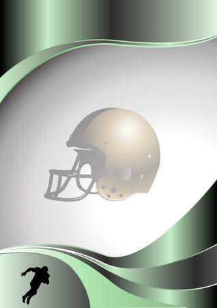 american football metal background Vector