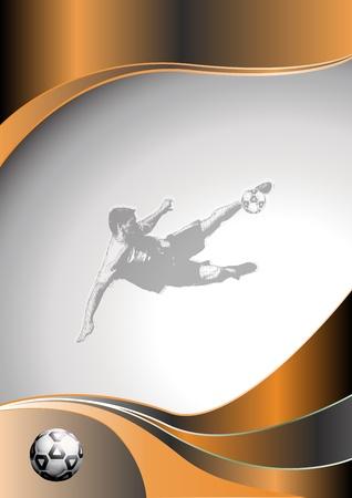 soccer metal background 2 Vector