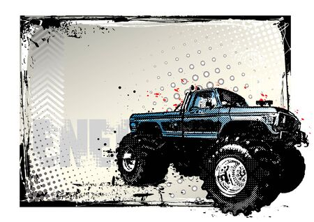 monster truck poster Stock Vector - 9811135
