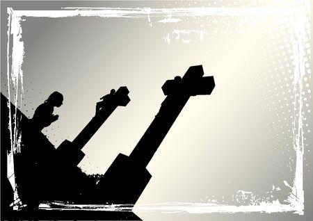 crucify: praying woman Illustration