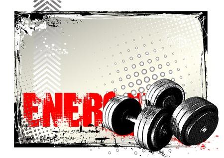 gym equipment: poster di palestra Vettoriali