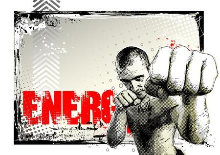 fight poster Illustration