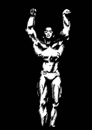 muscular build: The Bodybuilder