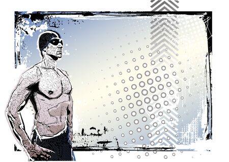 swim goggles: El cartel de nataci�n