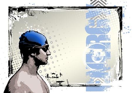 swim race: El cartel de nataci�n 2 Vectores