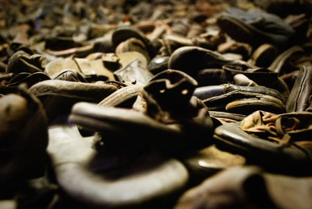 concentration camp: Shoes in Oswiecim