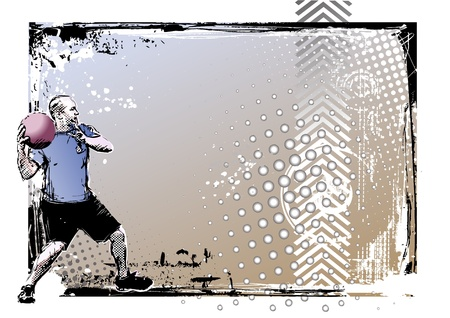 dodgeball poster Vector