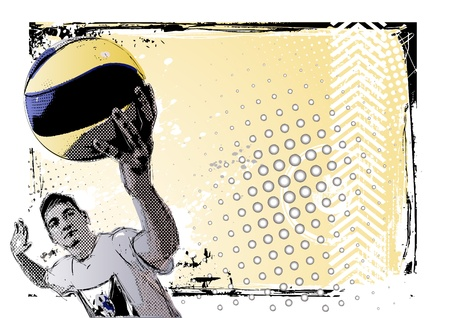 pelota de voley: voleibol de cartel