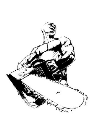 The Illustration of the Lumberjack