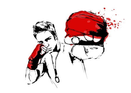 boxing sport: The Fighter Illustration