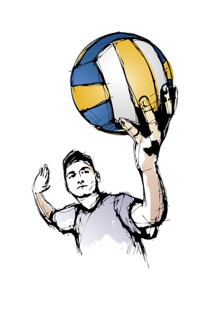 beach volley: volleyball player