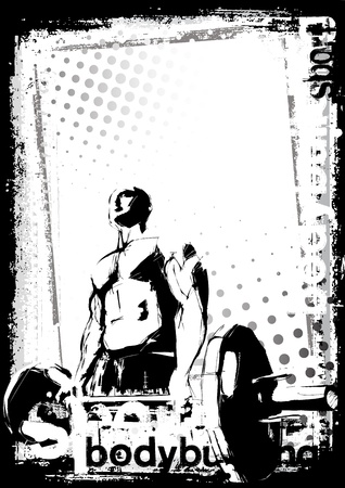 weightlifting: bodybuilding poster