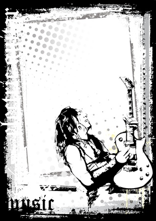 guitarist: guitarist poster Illustration