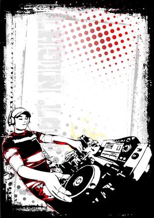 scheibe: Partei-Plakat Illustration