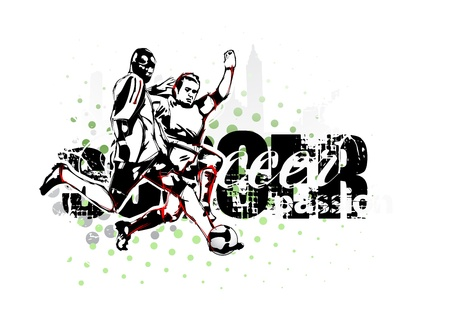 passion of soccer Vector