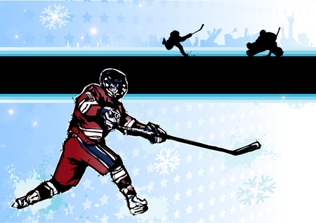 ice hockey background 2 Vector