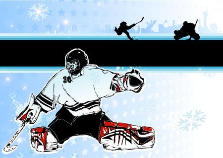 ice hockey background Vector