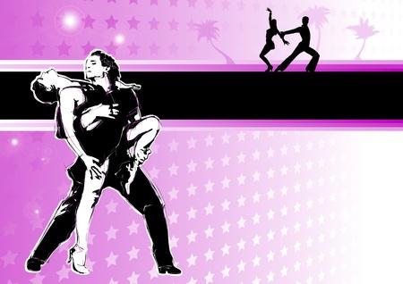 サルサ: ラテン系のダンスの情熱  イラスト・ベクター素材