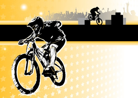 passion of biking Vector