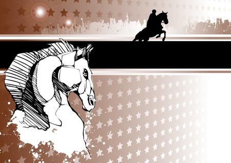 passion of horse racing Vector