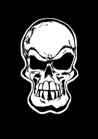 de schedel Stock Illustratie