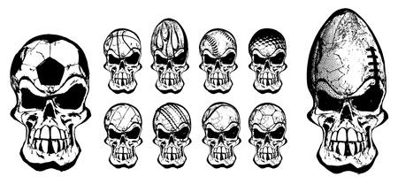 ball skulls 2 Vector