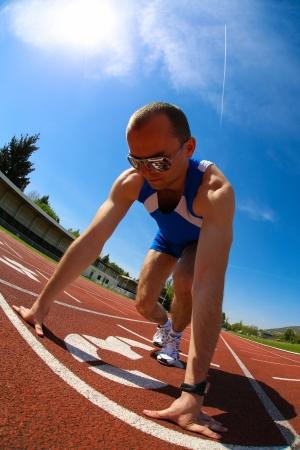 runner at the start
