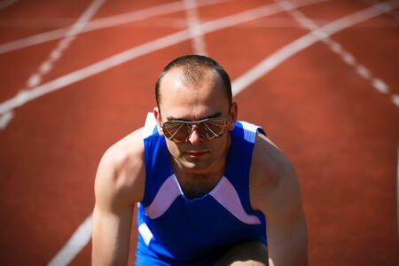 runner at the start photo