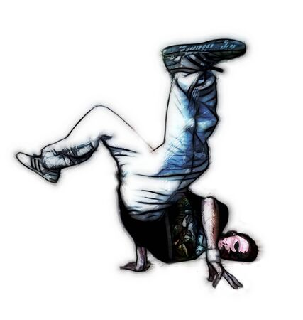 breakdance: illustration of breakdancer Stock Photo