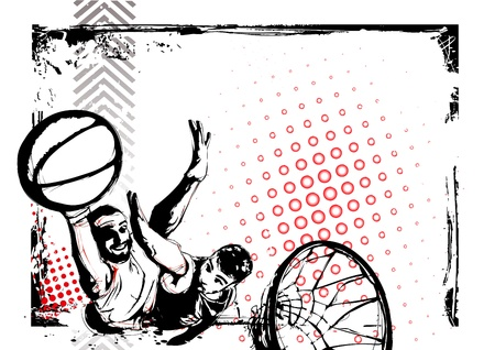 high contrast: illustration of basketball poster