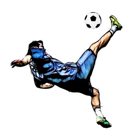 pelota de voley: ilustración del jugador de fútbol Foto de archivo