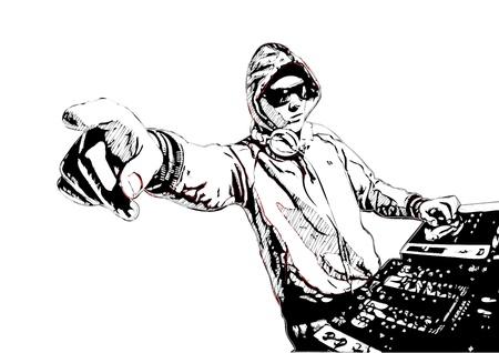 Illustration of DJ in action