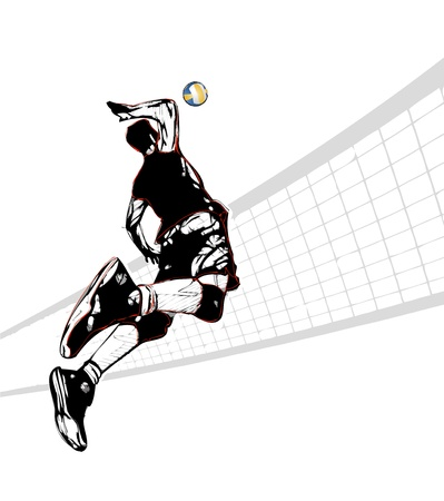 illustration of volleyball player Vector