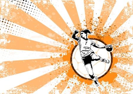 illustration of handball player  イラスト・ベクター素材